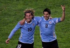 Forlan - Suarez az Uruguay-i válogatottban